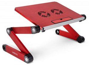 Lavolta Socle pliable pour ordinateur portable, support de bureau avec système de refroidissement–Rouge de la marque Lavolta image 0 produit