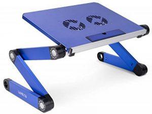 Lavolta Table de lit réglable pliable munie de 2 ventilateurs - support pour ordinateur portable - blue de la marque Lavolta image 0 produit