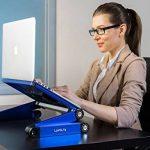 Lavolta Table de lit réglable pliable munie de 2 ventilateurs - support pour ordinateur portable - blue de la marque Lavolta image 2 produit