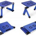 Lavolta Table de lit réglable pliable munie de 2 ventilateurs - support pour ordinateur portable - blue de la marque Lavolta image 6 produit