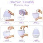 LEDemain® Diffuseur d'arômes/ Humidificateur à ultrasons/ Diffuseur d'huiles essentielles/ Purificateur d'air avec LED en 7couleurs, 1,3L de la marque LEDmain image 3 produit