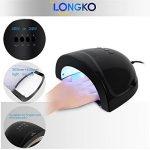 LONGKO Séchoir à Ongles Multifonctionnel Lampe UV LED pour Vernis à Ongles 24W/48W Noire de la marque LONGKO image 1 produit