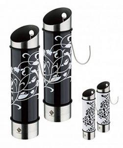Lot de 2 humidificateurs ornament - acier inoxydable - 5 x 20,5 cm (ØxH) - noir/blanc ou blanc/noir - Évaporateurs d'eau pour chauffage de la marque quantio image 0 produit