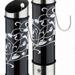 Lot de 2 humidificateurs ornament - acier inoxydable - 5 x 20,5 cm (ØxH) - noir/blanc ou blanc/noir - Évaporateurs d'eau pour chauffage de la marque quantio image 1 produit