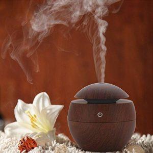 Mini Humidificateur Miyare 130 ml Aroma Diffuseur USB Humidificateur en Bois pour Voiture Yoga SPA Chambre d'enfants Bébé Chambre à Coucher Salon et Bureau (Brun) de la marque Miyare image 0 produit