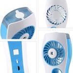 Mini Ventilateur , Vitutech Mini USB Ventilateur Rechargeable Ventilateur avec humidificateur/ climatiseur Ventilateur glacière - Bleu de la marque vitutech image 3 produit