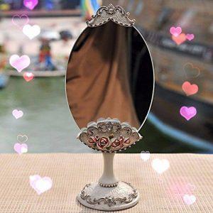 Miroir New Baroque Design Sur Pied Vintage Retro Decoratif Glace Femme Maquillage Ventilateur Rose de la marque Miroir Vintage Baroque image 0 produit