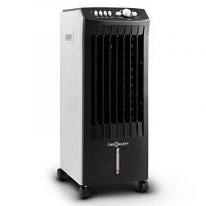oneConcept MCH-1 V2 • Rafraichisseur d'air 3 en 1 • roulettes • Fonction ventilateur • Humidificateur • Purificateur • Performance de 65W • Dégagement d'air de 400m³/h • Timer intégré réglable jusqu'à 2 heures • blanc & noir de la marque OneCo image 0 produit