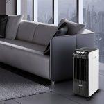 oneConcept MCH-1 V2 • Rafraichisseur d'air 3 en 1 • roulettes • Fonction ventilateur • Humidificateur • Purificateur • Performance de 65W • Dégagement d'air de 400m³/h • Timer intégré réglable jusqu'à 2 heures • blanc & noir de la marque OneCo image 2 produit
