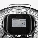 """oneConcept Metal Blizzard - Ventilateur de sol chromé / Brasseur d'air avec hélices 12"""" (30cm) 55W inclinable avec 3 réglages de vitesse et poignée de transport - design rétro de la marque OneConcept image 4 produit"""