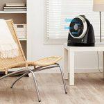 oneConcept Windmaker Ventilateur de table silencieux (fonction oscillation 25cm de diamètre, 3 vitesses, faible consommation, construction compacte) - noir chromé de la marque OneConcept image 3 produit