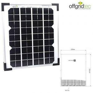 Panneau solaire 10W wp 12V - CE TUV - photovoltaïque monocristallin de la marque Offgridtec GmbH. image 0 produit