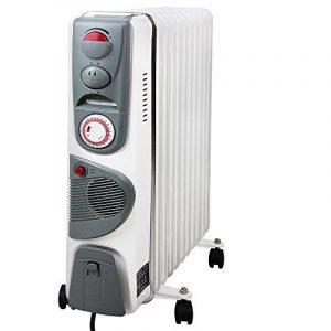 Radiateur à bain d'huile mobile Fonction Souffleur 1000-2500W Chauffage Chaleur Hiver Anti-surchauffe de la marque Deuba image 0 produit
