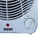 Radiateur soufflant électrique Rowi, Chauffage d'appoint, 2 niveaux de chauffage 1800W / 2000W de la marque ROWI image 2 produit