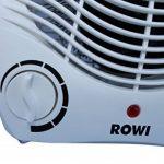 Radiateur soufflant électrique Rowi, Chauffage d'appoint, 2 niveaux de chauffage 1800W / 2000W de la marque ROWI image 3 produit