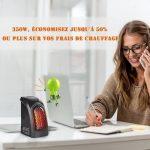 Radiateur Soufflant Salle de Bains -Mini Chauffage d'appoint avec Thermostat Réglable Puissant 350 Watts Basse Consommation -Couleur Noir de la marque Gesundhome image 1 produit