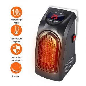 Radiateur Soufflant Salle de Bains -Mini Chauffage d'appoint avec Thermostat Réglable Puissant 350 Watts Basse Consommation -Couleur Noir de la marque Gesundhome image 0 produit