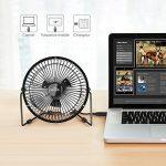 SIMBR Mini USB Ventilateur de table 6'' Ultra-Compact Ventilateur Fan Silencieux et Portable avec port USB - Noir de la marque SIMBR image 5 produit