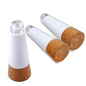 Sunvito 3 Packs bouchon Premium USB Powered lumineux rechargeable liège bouteille de vin lumière LED pour les fêtes de décoration maison, les amateurs de vin (blanc) de la marque sunvito image 0 produit