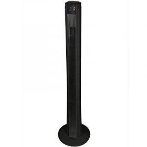 Syntrox Germany XXL Ventilateur Tour TFT-Pao Black Tower Ventilateur 50W avec télécommande, minuterie et oscillation Ventilateur sur pied Ventilateur Colonne Vent Machine Ventilateur Soufflerie de la marque Syntrox Germany image 0 produit