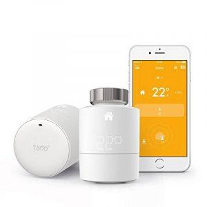 tado° Têtes Thermostatiques Intelligente pour radiateur - Kit de démarrage - contrôle intelligent de chauffage par géolocalisation via Smartphone de la marque Tado image 0 produit