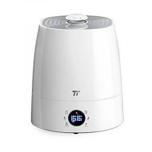TaoTronics Humidificateur d'Air Ultrasonique à Brume Chaude et Froide 5,5L pour Maison de 40-60㎡ (Mode Nuit, Minuterie 1 à 12h, 6 Indicateurs à LEDs, Protection Niveau d'Eau Bas, Capteur d'Humidité Externe Précis) de la marque TaoTronics image 0 produit