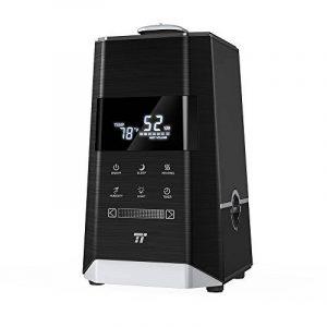 TaoTronics Humidificateur d'Air Ultrasonique à Brume Chaude et Froide 6L, Double Buse à 360° (Mode Nuit, Minuterie, Protection Manque d'Eau, Panneau Tactile à Larges Touches & Afficheur à LED, Capteur d'Hygrométrie Externe, Filtre Intégré) de la marque Ta image 0 produit