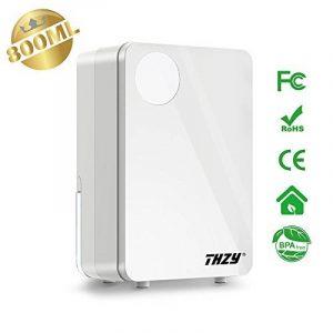 THZY® 800ML Petit déshumidificateur thermo-électrique à semiconducteur, déshumidificateur silencieux compacte et portable pour placard, chambre à coucher, salle de bain, sous-sol et bureau à domicile (blanc) de la marque THZY image 0 produit