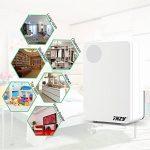 THZY® 800ML Petit déshumidificateur thermo-électrique à semiconducteur, déshumidificateur silencieux compacte et portable pour placard, chambre à coucher, salle de bain, sous-sol et bureau à domicile (blanc) de la marque THZY image 4 produit