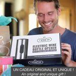 Tire bouchon électrique sans-fil Twinz'up - Coffret avec coupe-capsule et socle de recharge - Batterie de seconde génération - Le cadeau idéal pour tous les amateurs de vins et d'oenologie de la marque Twinz'up image 5 produit