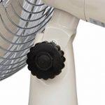 TKG 30cm Métal Rétro Ventilateur sur Pied, oscillation, 35W, 3Vitesses, 1pièce, crème, TKG VT 1021 de la marque Efbe-Schott image 1 produit
