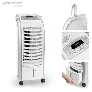 TROTEC PAE 25 Rafraîchisseur d'air / Climatiseur / Ventilateur sur roulettes - (4 niveaux de puissance, 65W, télécommande, écran LED)- différents modes de fonctionnement et fonction humidificateur de la marque Trotec image 0 produit