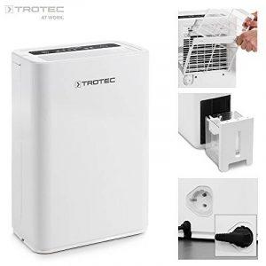 TROTEC TTK 52 E Déshumidificateur d'air, Déshumidificateur Electrique, Déshumidificateur Portable, Absorbeur d'humidité, Déshumidification max. 16 l/j, pour 31 m² max., Hygrostat intégré de la marque Trotec image 0 produit