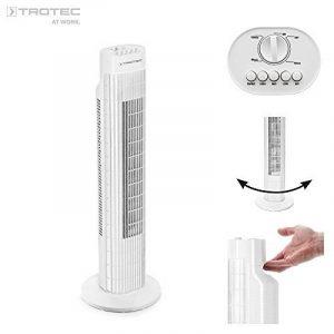 TROTEC Ventilateur colonne TVE 30 T | Ventilateur Tour | Fonction d'oscillation automatique 80°| 3 vitesses de ventilation| Puissant 45 watts | fonctionnement très silencieux de la marque Trotec image 0 produit