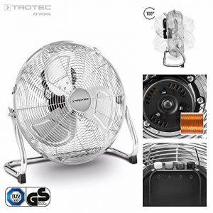 TROTEC Ventilateur de sol TVM 14 | Puissance de 70 watts | 3 niveaux de vitesse | Tête du ventilateur inclinable à 100° | Diamètre des pales 35 cm de la marque Trotec image 0 produit
