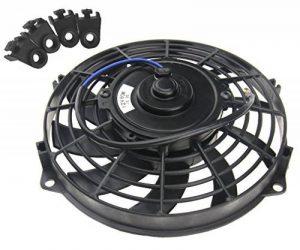"""Ventilateur de refroidissement pour voiture camping car 12V 9""""80W avec kit de montage de la marque Micro Trader image 0 produit"""