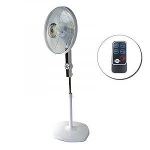Ventilateur sur Pied Télécommande 60W Oscillant DynaSun DSE2RC LCD LED 60W Pro avec Fonction Spéciale de Ventilation de la marque DynaSun image 0 produit