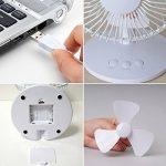 XGUO Ventilateur de Table Oscillant, Ultra-Silencieux et Puissant avec 2 Vitesses, Portable Mini USB Ventilateur sur pied(8 Pouce,Blanc) de la marque XGUO image 5 produit
