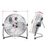 Yorbay Ventilateur de Sol, Machine à vent de 45cm en métal, 3vitesses, avec inclinaison réglable, sécurité certifiée de la marque Yorbay image 1 produit